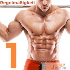 Regelmäßigkeit beim Muskelaufbau