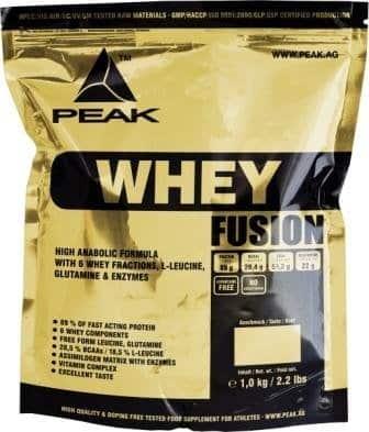 Peak Whey Fusion 1kg Beutel