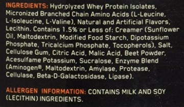Optimum Nutrition Platinum Hydro Whey Protein Test 3